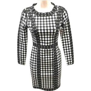 Shelley Wood black white small cocktail dress NWT